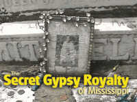 Tombstone of Meridian, Mississippi's Queen of the Gypsies