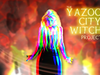 Image of the Yazoo City Witch burning down the city